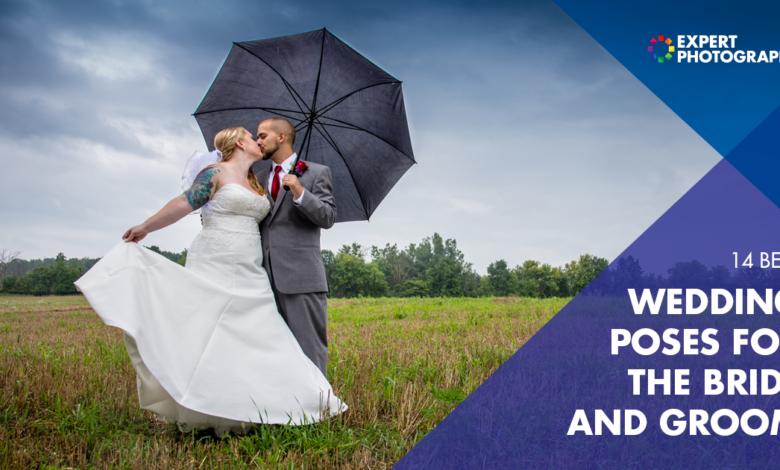 14 lindas poses de casamento para a noiva e o noivo