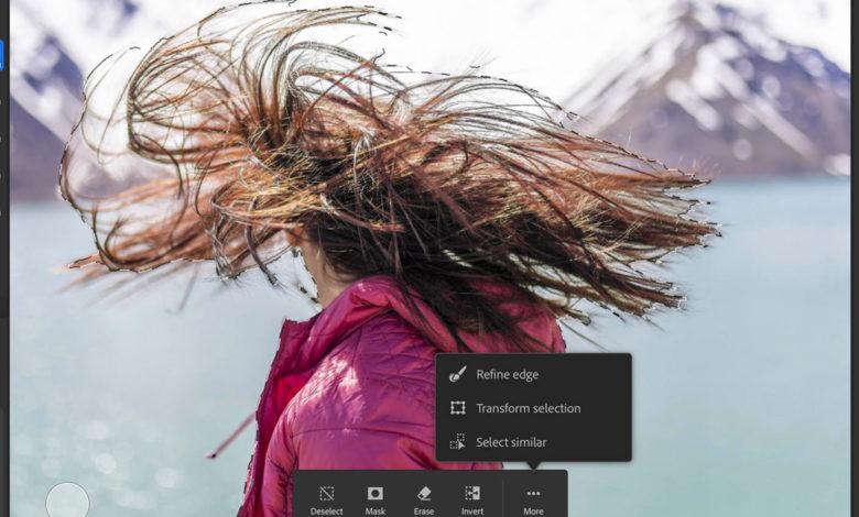 Adobe adiciona ferramentas de rotação de pincel e tela de borda fina ao Photoshop para iPad