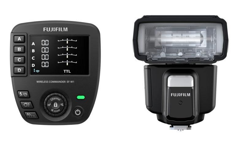 Fujifilm apresenta o flash de montagem em sapata EF-60 e o comando sem fio EF-W1 para câmeras da série X e sistema GFX