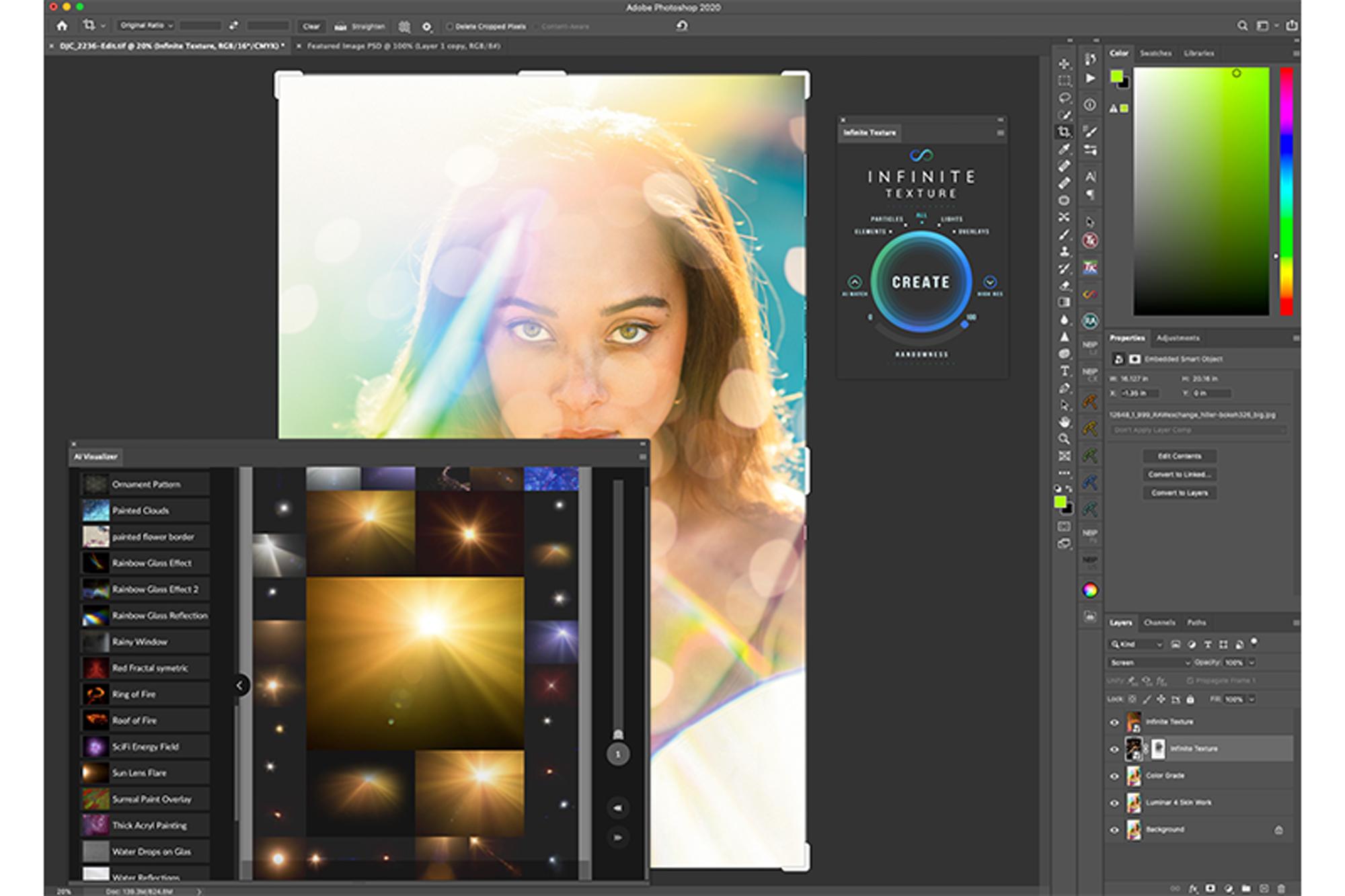 Photo of Adicione um toque criativo às suas imagens com o painel de textura infinita