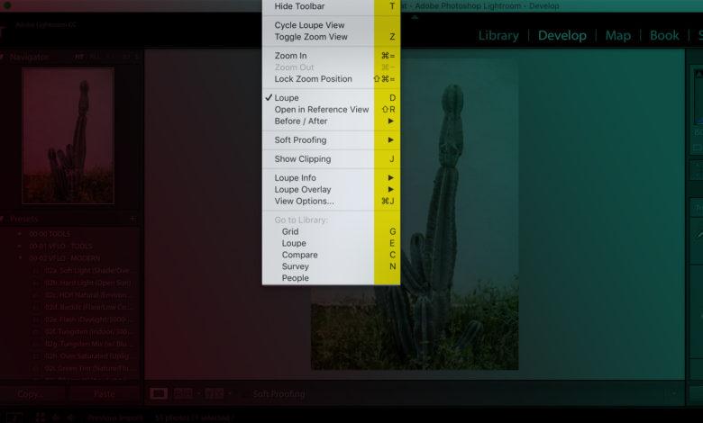 Os melhores atalhos de teclado do Lightroom |  Referência rápida