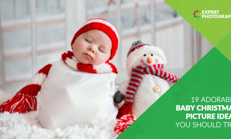 19 Adoráveis ideias para fotos de bebês de Natal que você deve experimentar!