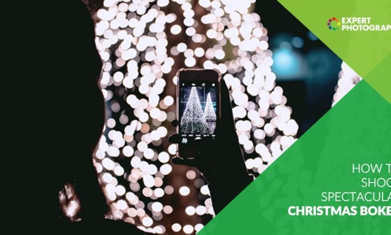 Como fotografar luzes de bokeh de Natal (com exemplos incríveis!)